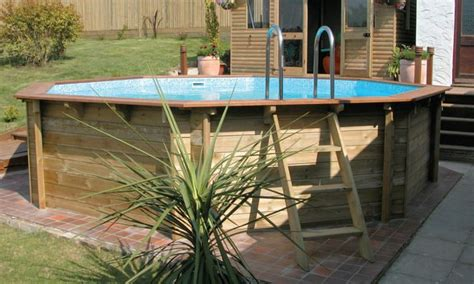 wooden surround  intex pool google search