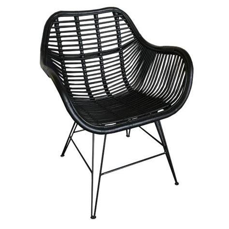 stoel riet zwart hk living rotan metaal stoel in 4 kleuren zwarte rieten
