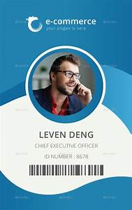 template for identification card id badge pinterest With photo id badges templates