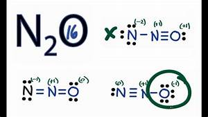 N2O Lewis Structure - How to Draw the Lewis Structure for ...