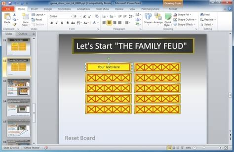 family feud powerpoint template powerpoint