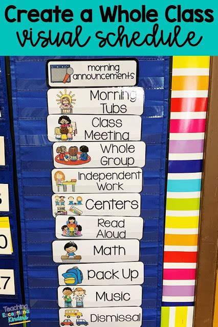 visual schedules    students