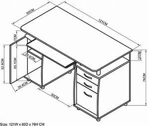 Office desk size standard computer desk dimensions top for Office desk sizes