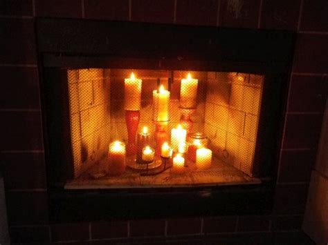 candles in fireplace fireplace glow hallee the homemaker
