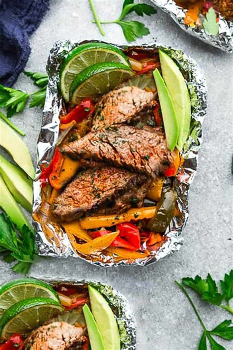 steak fajita foil packets easy ketopaleo dinner recipe