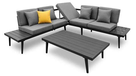 canap d angle de jardin salon de jardin table basse alu piaxa mobilier moss