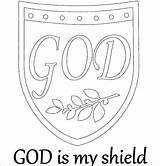 Shield Coloring Pages Night Medieval God Getcolorings Printable Faith sketch template