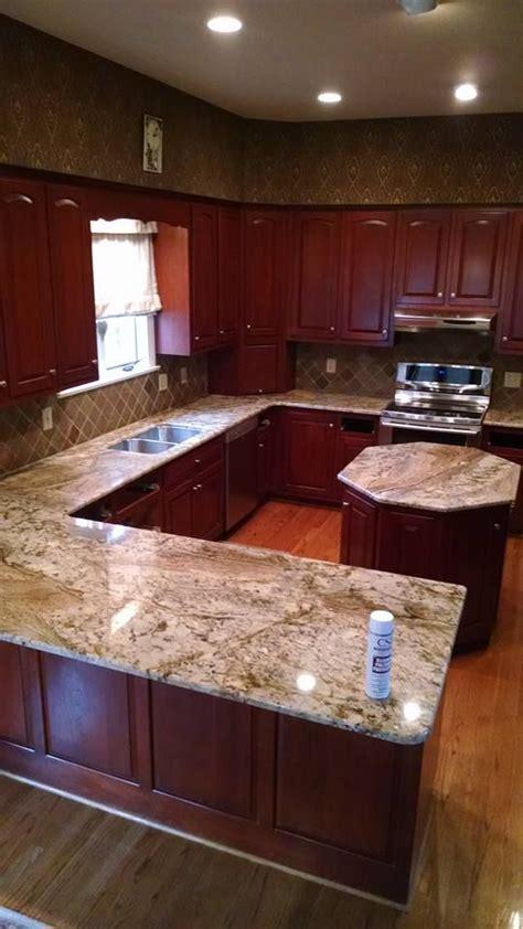 Typhoon Bordeaux Granite kitchen countertop by CSI
