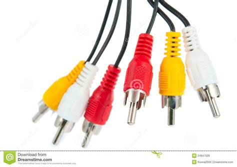 Audio Jacks Isolated Stock Photo. Image Of Cables, Plug