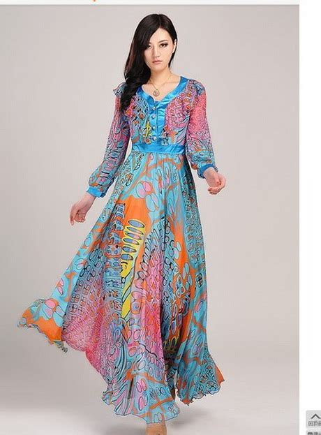long summer dresses with sleeves