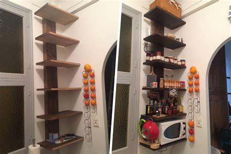 etageres de cuisine fabrication d 39 étagère en bois pour cuisine avec