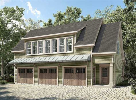 plan dk  bay carriage house plan  shed roof