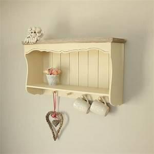 Cream Wall Shelf With Pegs Country Ash Range Melody