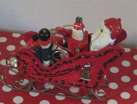 vintage hp red wood sledsleigh  santa toystrainjack  boxsoldierhorn ebay