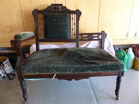 Vintage Settee Loveseat by Antique Eastlake Seat Settee Sofa
