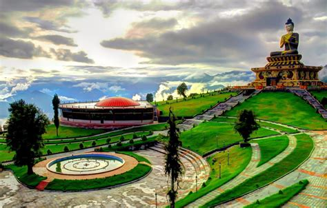fantastically landscaped buddha park  ravangla