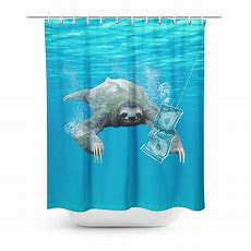 Nirvana Sloth Shower Curtain Shelfies