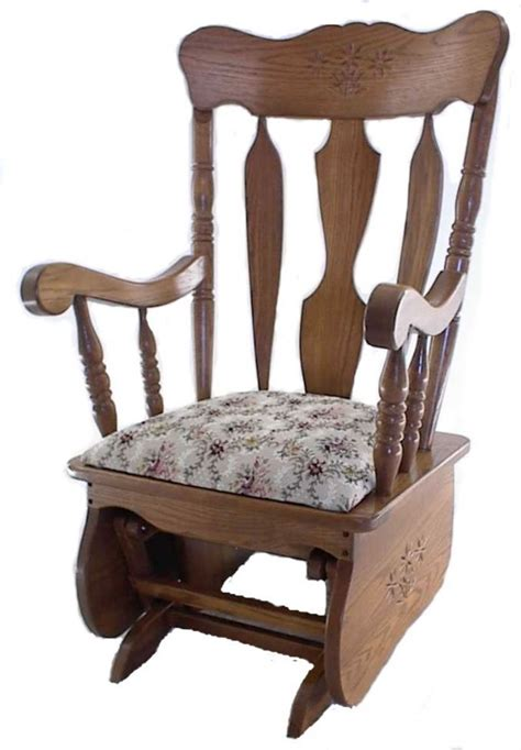amish indoor glider solid oak or cherry wood gliders