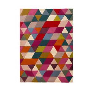 Prism Rug by Illusion Prism Pink Multi Colour Rug