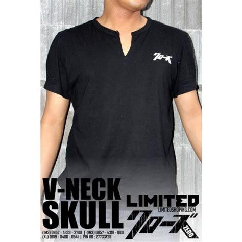 Kaos V Neck Genji Takiya limitedshoping ready stok v neck genji skull