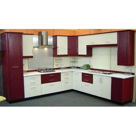modern  shape pvc modular kitchen rs  square feet