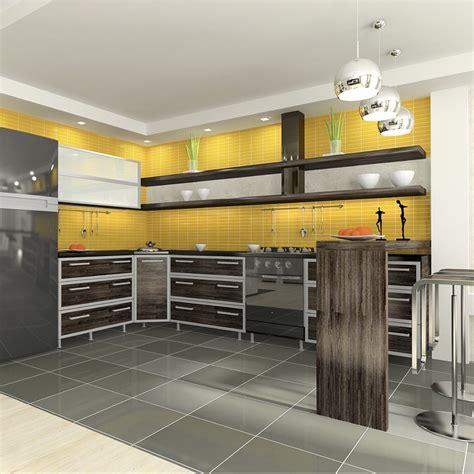 cuisine jaune et noir deco cuisine gris et jaune