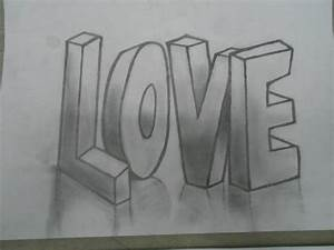 3D Drawing [LOVE] by xVivaProduction on DeviantArt