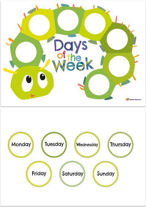 days   week template   teacher resources