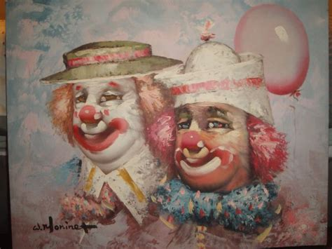 W Moninet Clown Painting