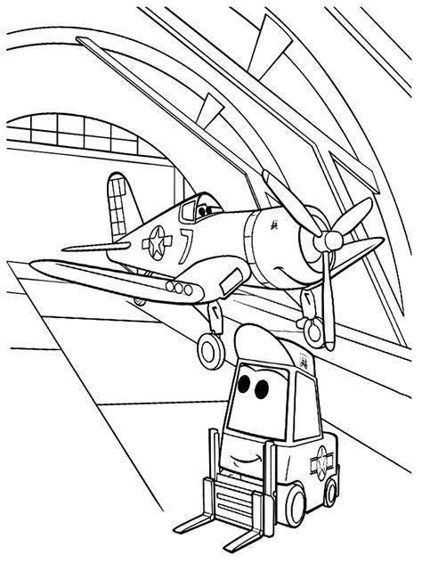dibujos  colorear aviones imprimir gratis