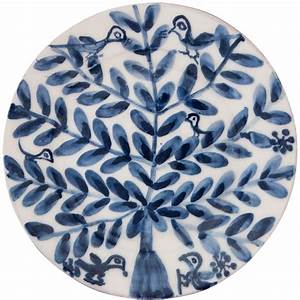 Decorative plates for wall birds on tree ii