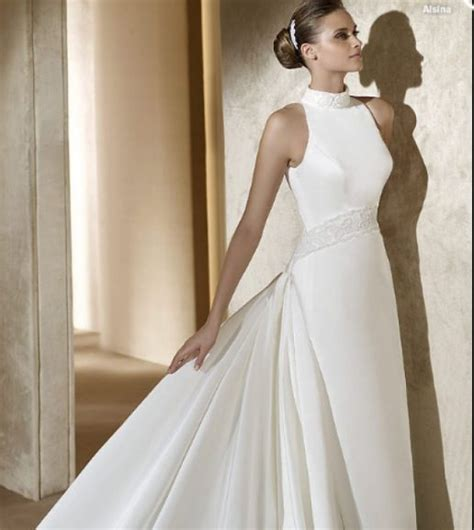 Elegant Turtleneck Wedding Dress  Dream Wedding