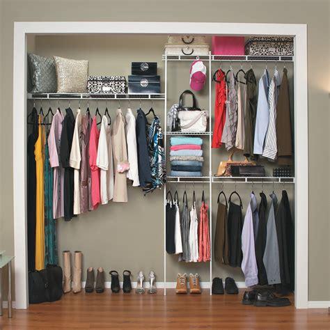 closetmaid 5 8 ft closet organizer wire closet