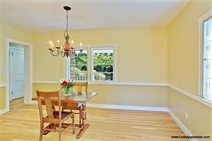 Dining room paint ideas with chair rail bing images for Kitchen colors with white cabinets with flying swallows wall art