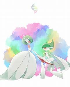 Gardevoir and Gallade in mega form. Looks like they're at ...