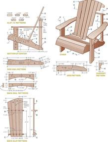 wood working adirondack chair plans from pallets