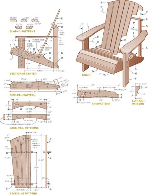 wood working adirondack chair plans  pallets