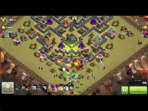 coc 9th gowiwi hog attacks golem 3 wizard 13 hog