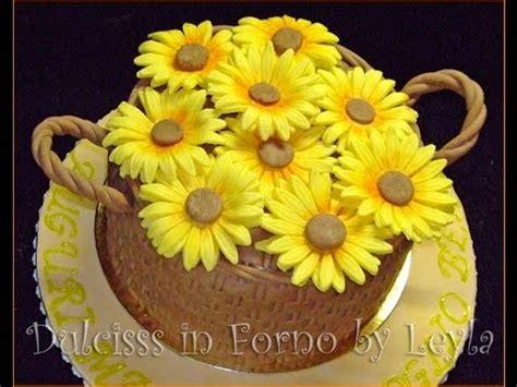 pasta di zucchero fiori passo passo girasole e foglie in pasta di zucchero passo passo