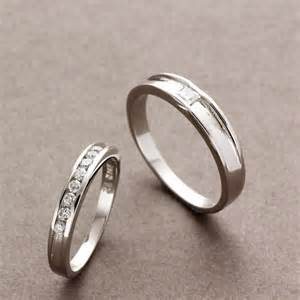 engraving inside wedding band couples matching sterling silver rings cz wedding bands
