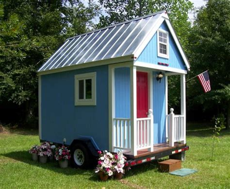 Free Loft Bed Building Plans by A Tiny House On A Trailer That Costs Less