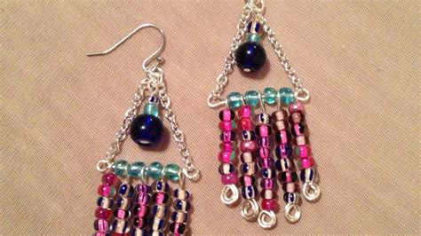 how to make colorful wire chandelier earrings diy style