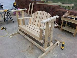 How to build a porch swing glider - YouTube