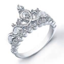crown wedding rings sterling silver crown ring princess from