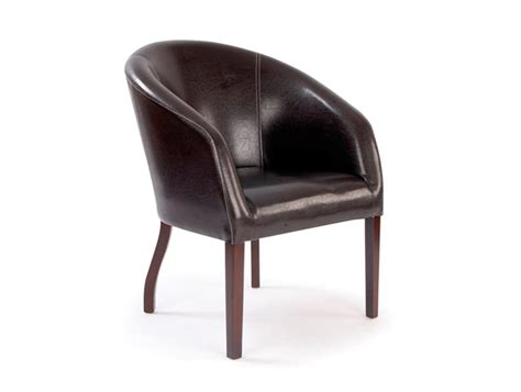 Leather Upholstered Metro Curved Leather Armchair