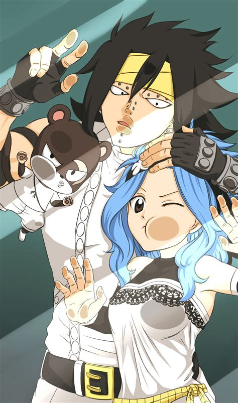 gajeel lilly levy fairy tail personajes ilustracion