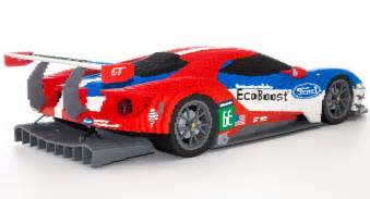 mercedes sports car lego ford gt made from 40 000 bricks 95 octane