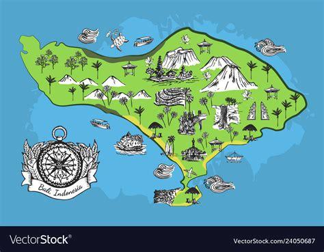 drawing bali map royalty  vector image vectorstock
