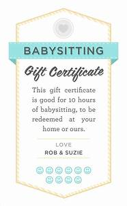 The Babysitters Download Babysitter Date Night Printable Babysitting Gift