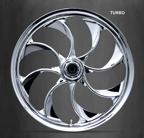 motorcycle wheels custom turbo chrome streetcustommotorcycle